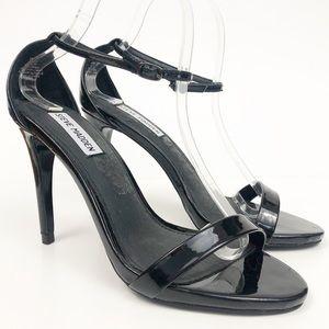 Steve Madden Ankle Strap Black Heels Size 8.5